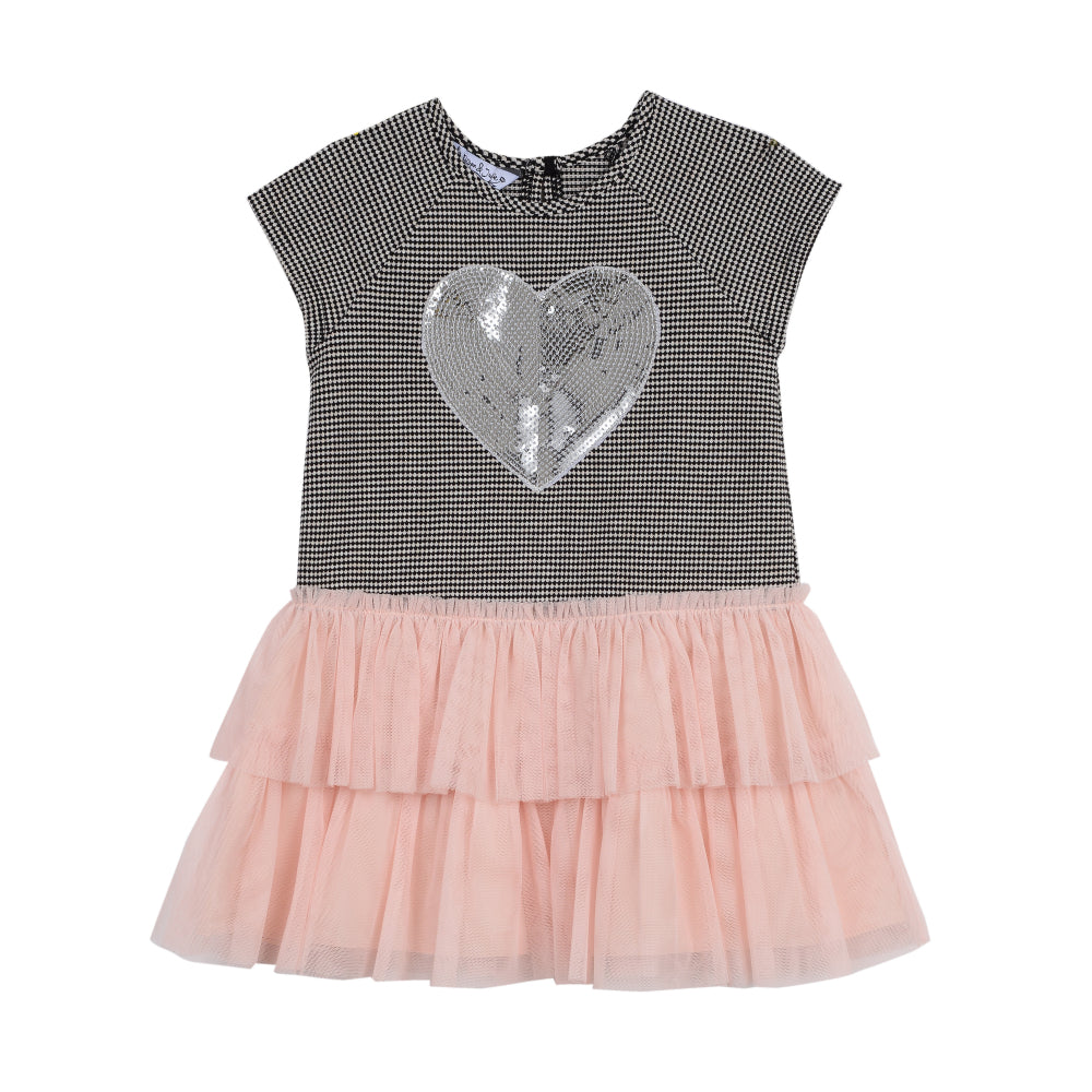 Elsie Sequin Heart Dress