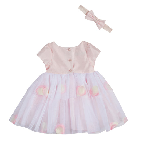 Nicki Pink Dress & Headband Set