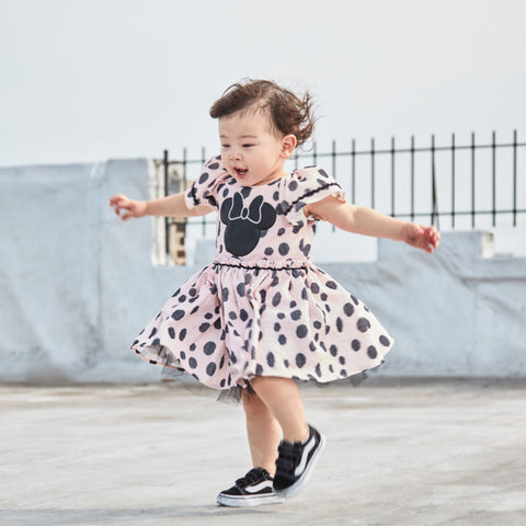 Disney X Pippa & Julie Minnie Pink Polka Dot Dress
