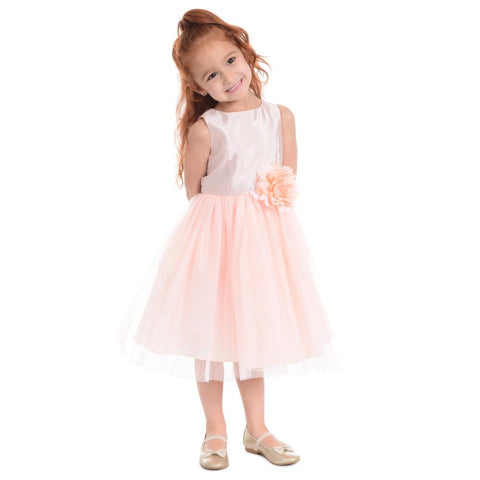 Seraphina Peach Ballerina Dress