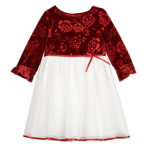 Paris Red Velvet Dress