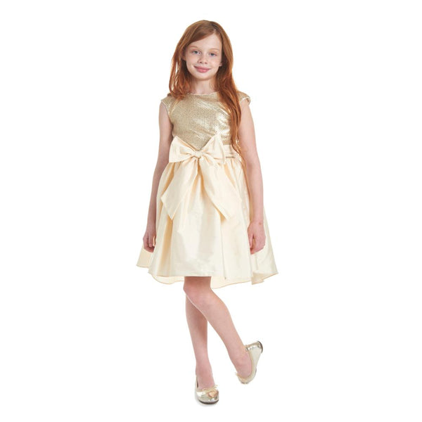 Dress - Alicia Gold And Cream Sequin Dress