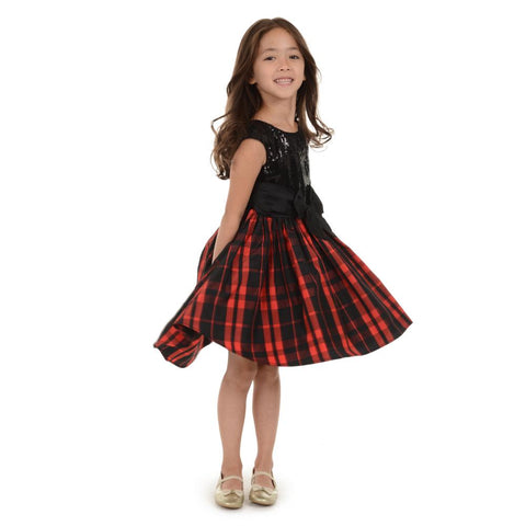 Alicia Plaid Dress