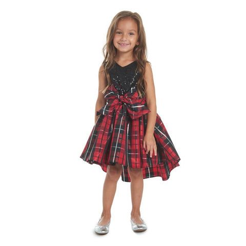 Alicia Plaid Sequin Dress