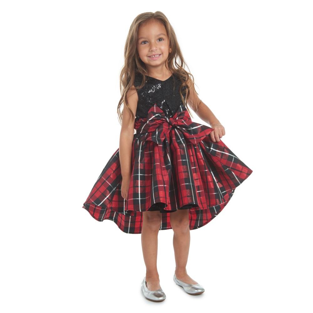 Dress - Alicia Plaid Sequin Dress