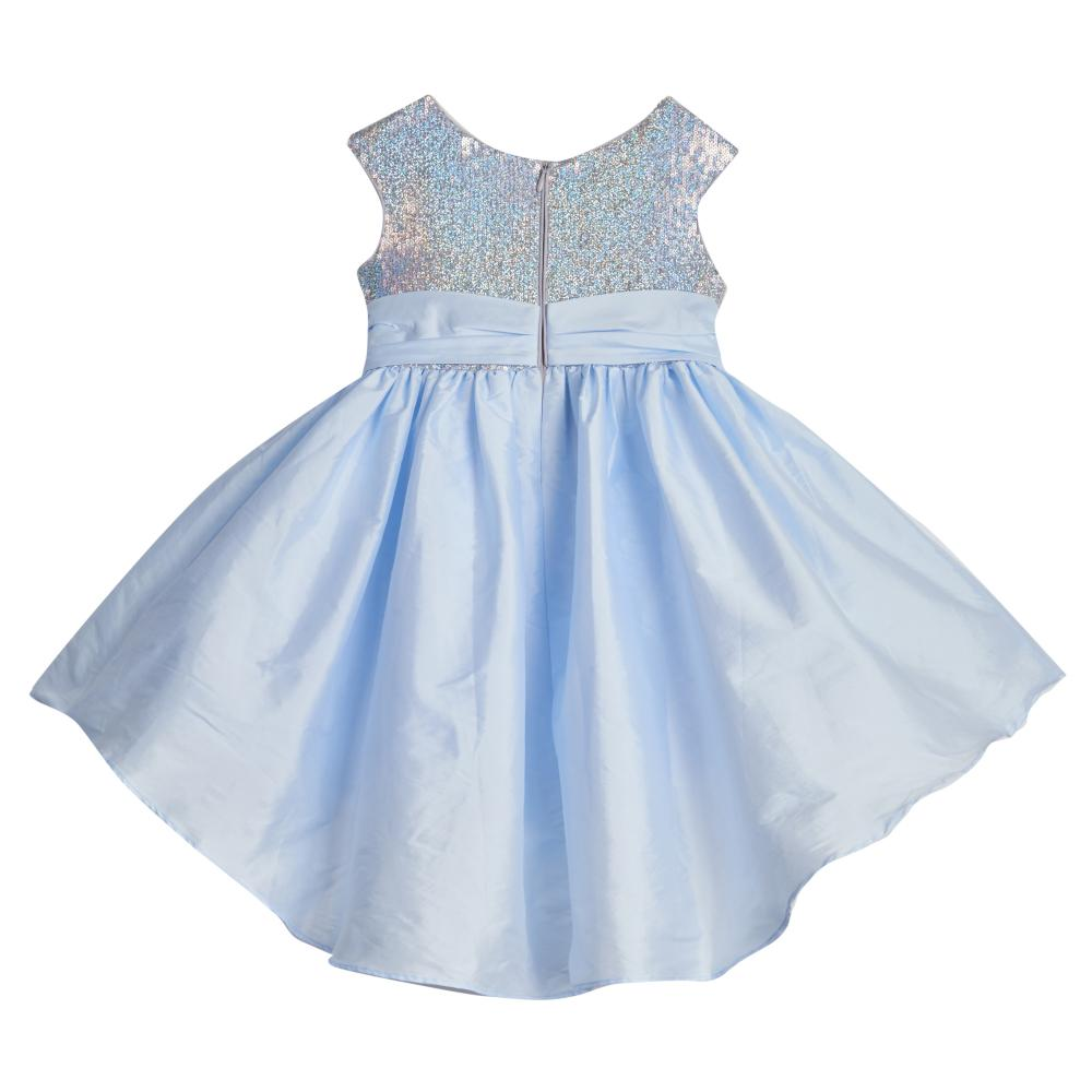 Dress - Alicia Silver And Blue Sequin Dress