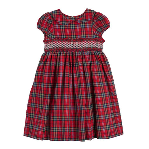 Bethany Plaid Smocked Dress