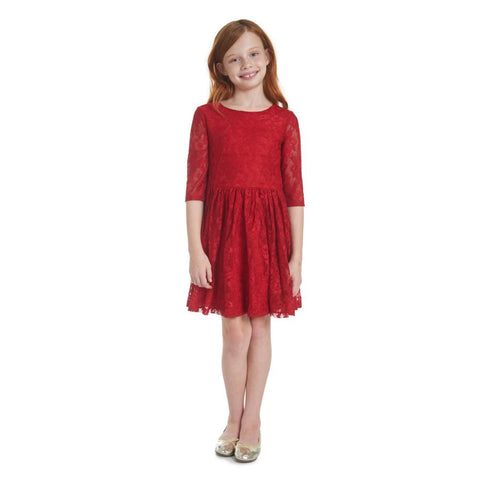 Brielle Red Lace Dress
