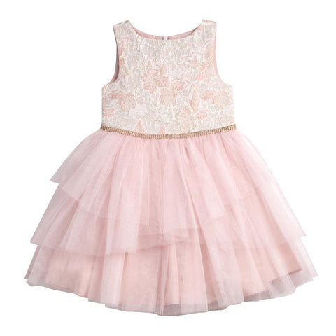 Cassandra Pink Brocade Tutu Dress
