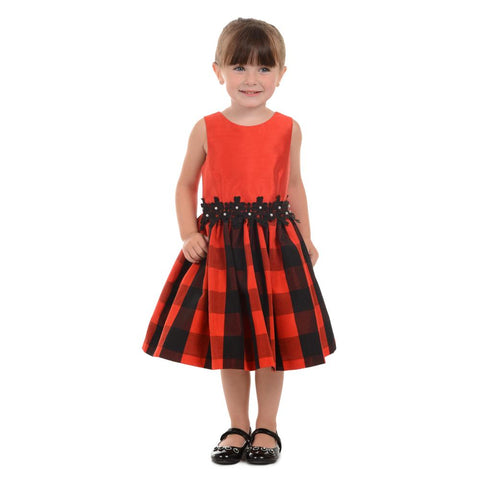 Daniella Red Plaid Dress