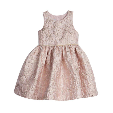Danielle Pink and Gold Brocade Dress