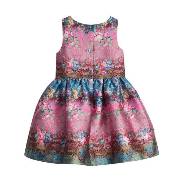 Dress - Danielle Striped Floral Dress