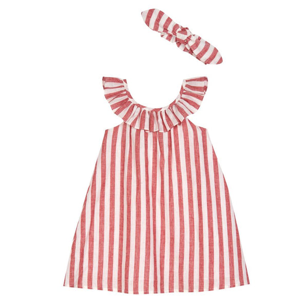 Dress - Delia Stripe Sundress & Headband Set
