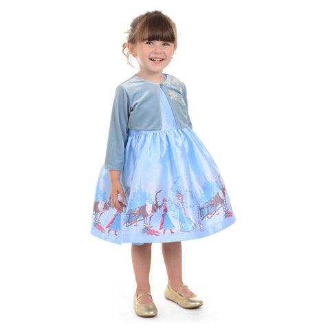Disney X Pippa & Julie Elsa Border Print Dress