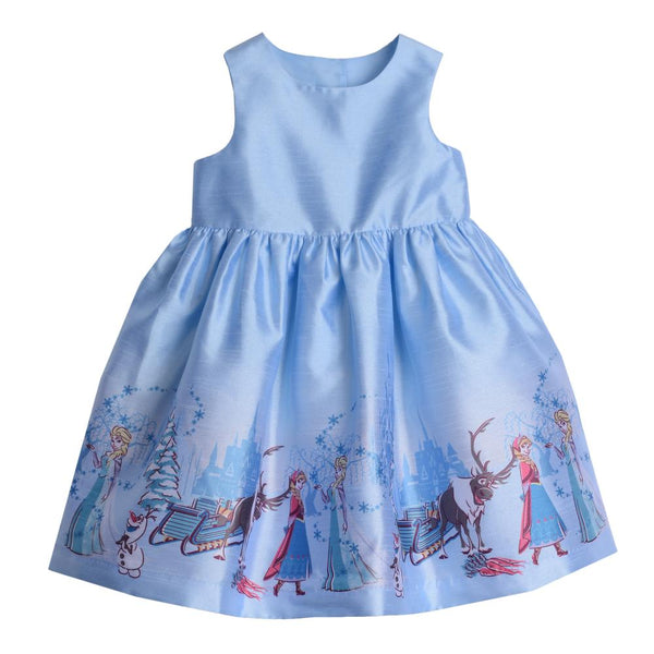 Dress - Disney X Pippa & Julie Elsa Border Print Dress