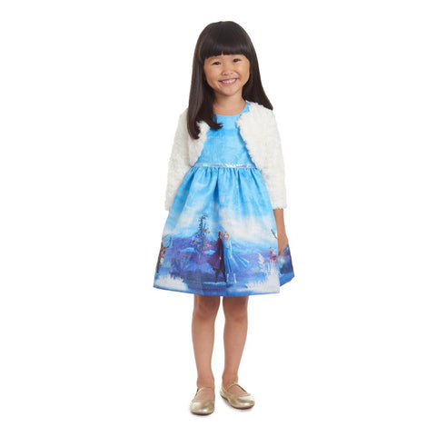 Disney X Pippa & Julie Frozen 2 Elsa and Anna Jacket Dress
