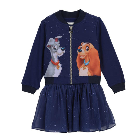 Disney X Pippa & Julie Lady and the Tramp Bomber Set (Little Girl 2T-6X)