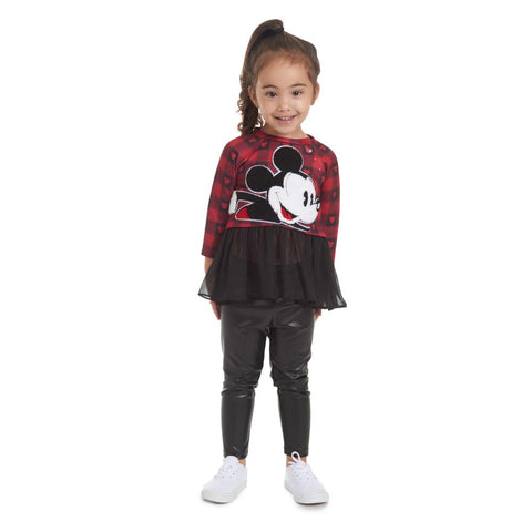 Disney X Pippa & Julie Mickey Plaid Tutu Set