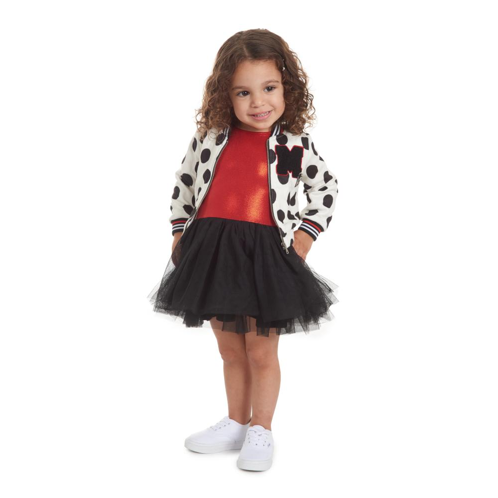 Dress - Disney X Pippa & Julie Mickey Polka Dot Bomber Set