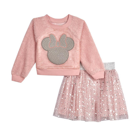 Disney X Pippa & Julie Minnie Pink Sequin Skirt Set