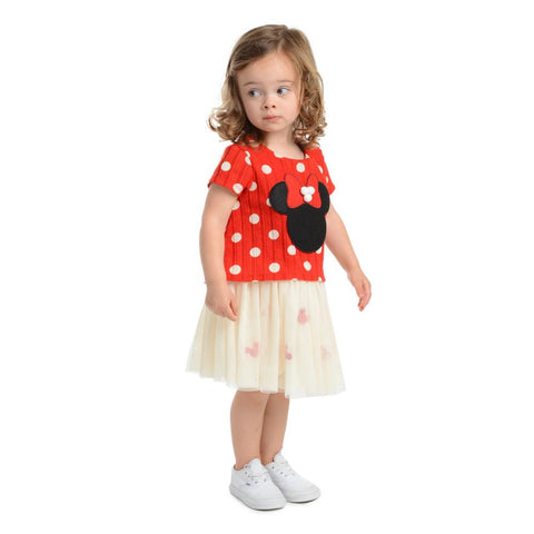 Disney X Pippa & Julie Minnie Polka Dot Tutu Dress