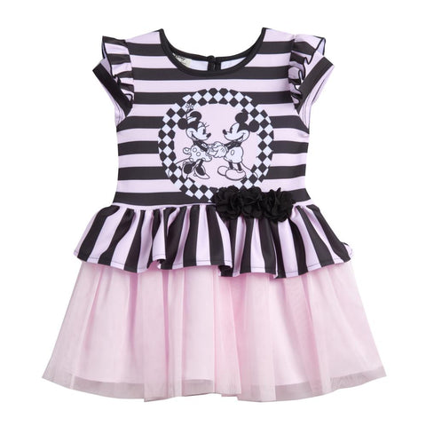 Disney X Pippa & Julie Minnie Stripe Peplum Dress