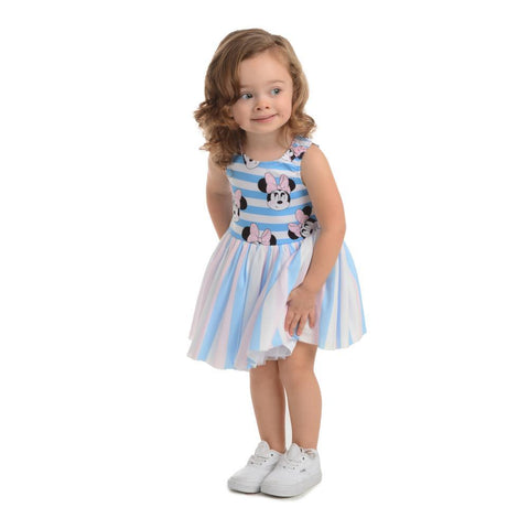Disney X Pippa & Julie Minnie Stripe Tutu Dress (Little Girl 2T-6X)