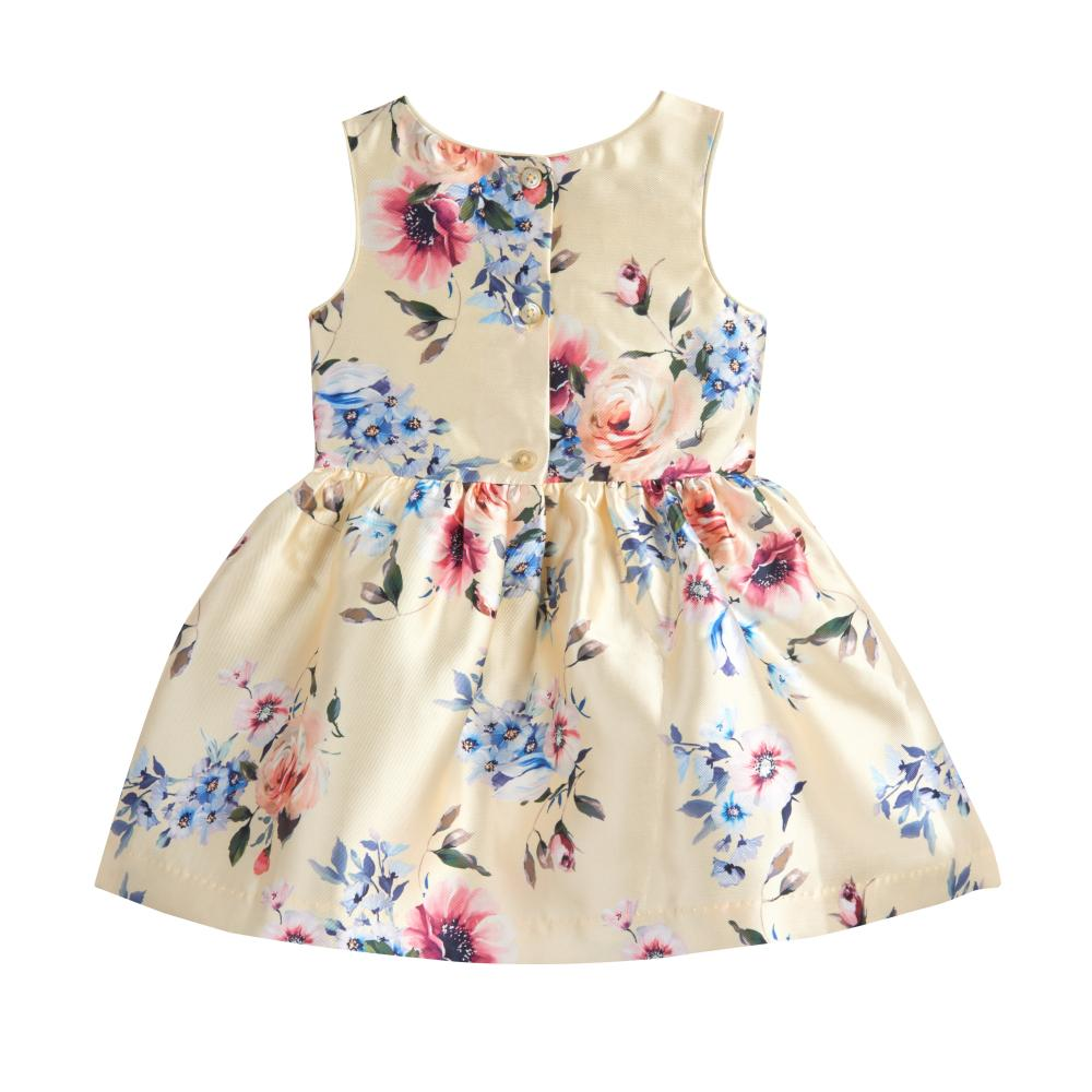 Dress - Elaina Yellow Floral Dress