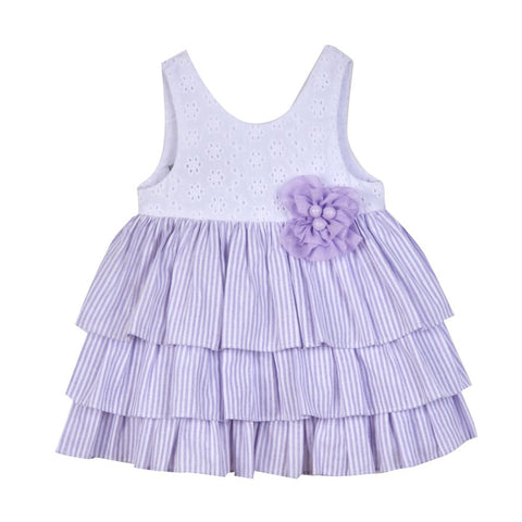 Eloise Purple Eyelet Dress
