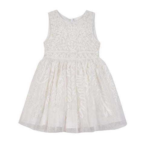 Evelyn White Social Dress