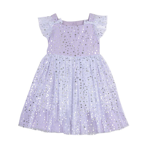 Fern Lilac Foil Dots Dress