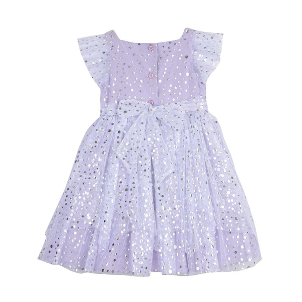 Dress - Fern Lilac Foil Dots Dress