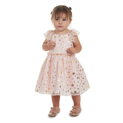 Fern Pink and Gold Stars Dress