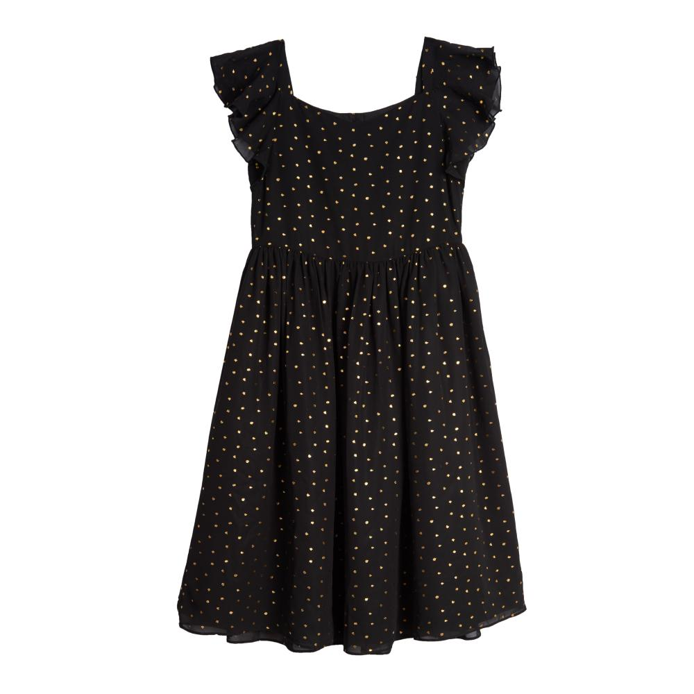 Dress - Jayla Dot Flutter Sleeve Dress