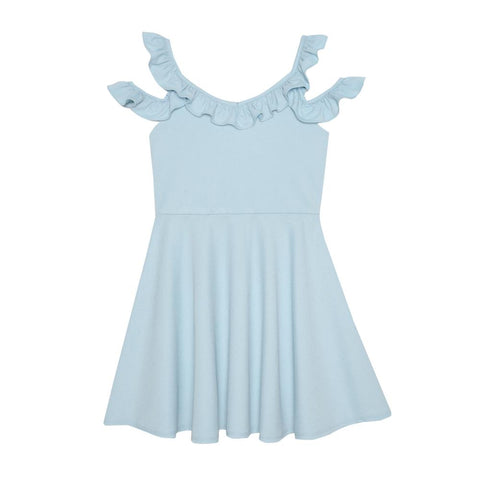 Jessye Blue Cold Shoulder Dress
