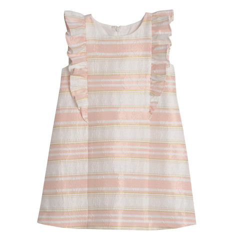 Lianna Peach Stripe Shift Dress