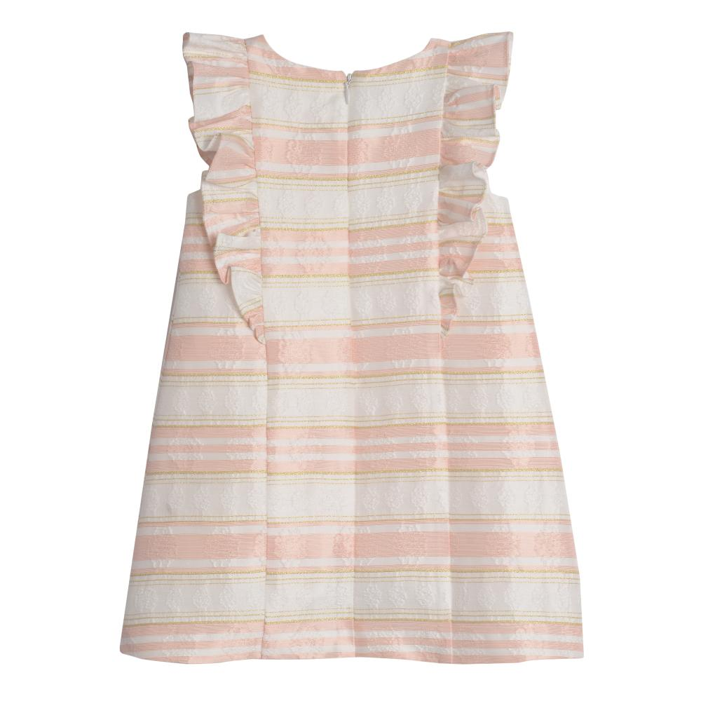 Dress - Lianna Peach Stripe Shift Dress