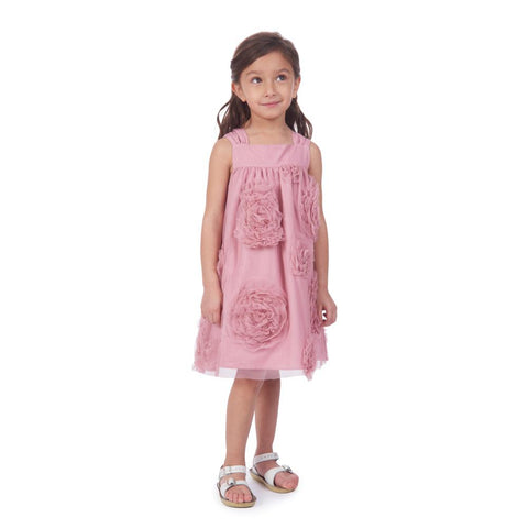 May Dusty Rose Swing Dress
