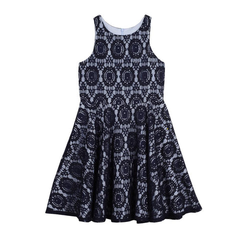 Maya Navy Lace Dress