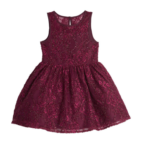 Dress - Mia Burgundy Lace Dress