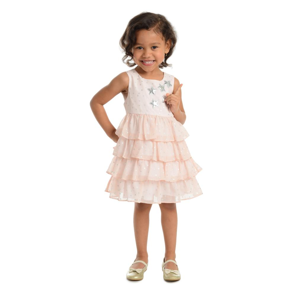Dress - Mylah Blush Tiered Dress