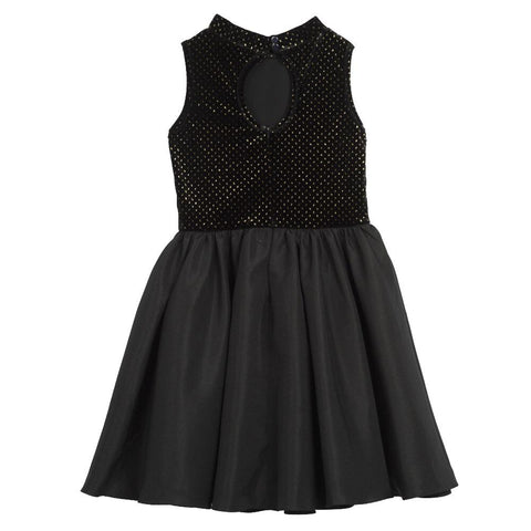 Roxanne Black Velvet Dress
