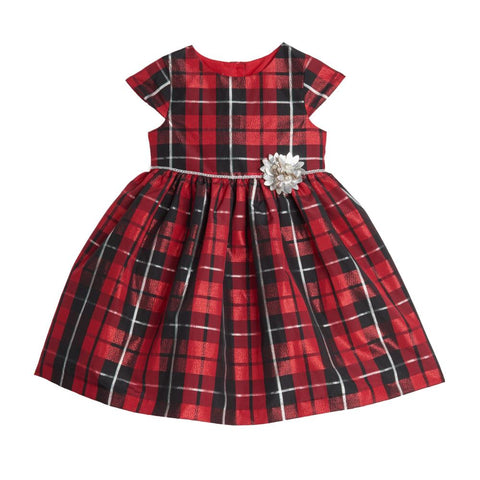 Soledad Red Plaid Dress