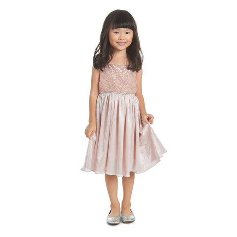 Soraya Blush Pleated Dress