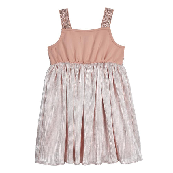 Dress - Soraya Blush Pleated Dress