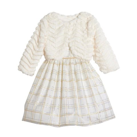 Teresa Ivory Plaid Jacket Dress