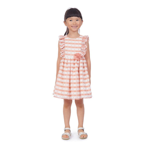 Tess Coral Striped Dress