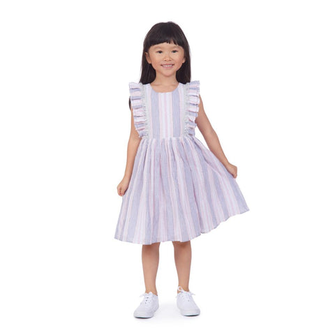 Tess Pink Striped Dress