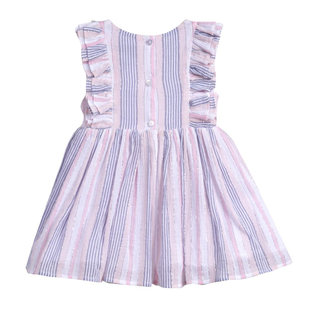 Dress - Tess Pink Striped Dress