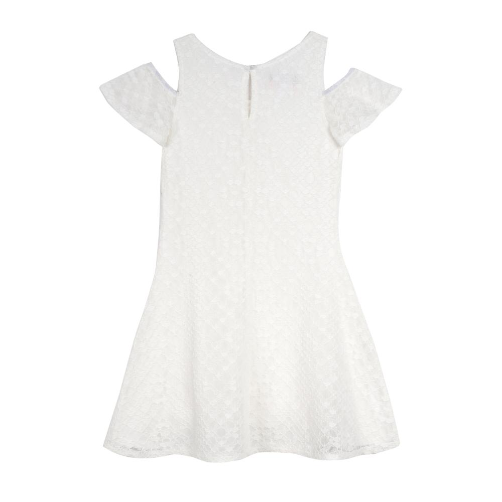 Dress - Tindra White Lace Dress